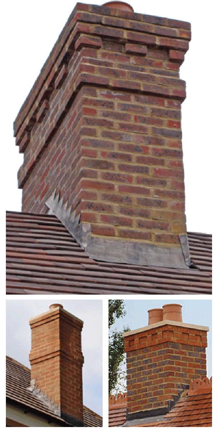 Brick Chimney Caps For Chimneys : Prefab or dummy chimneys « the brick man