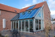 SF65, all timber folding sliding doors and Combi Timber windows - North Nottinghamshire
